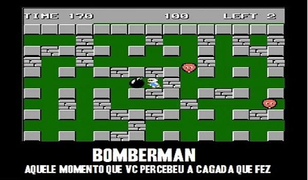 Morrer pela própria bomba em Bomber Man